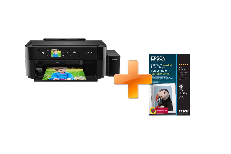 EPSON L810, A4, 5 ppm, 6 ink ITS + 2 x 40 listů fotopapíru zdarma