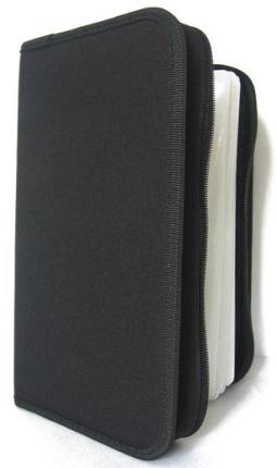 COVER IT Pouzdro na CD/DVD- 128ks, zapínací černé