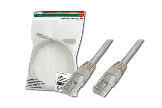 Digitus Patch Cable, UTP, CAT 5e, AWG 26/7, měď, šedý 5m