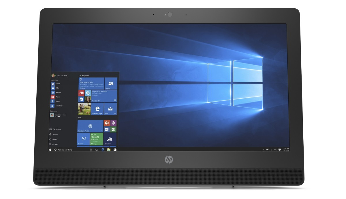 "HP ProOne 400G3/ AiO / 20"" NT / G4560T/4GB/500 GB/Intel HD/ DVDRW/a/b/g/n + BT/ SD MCR/W10P"