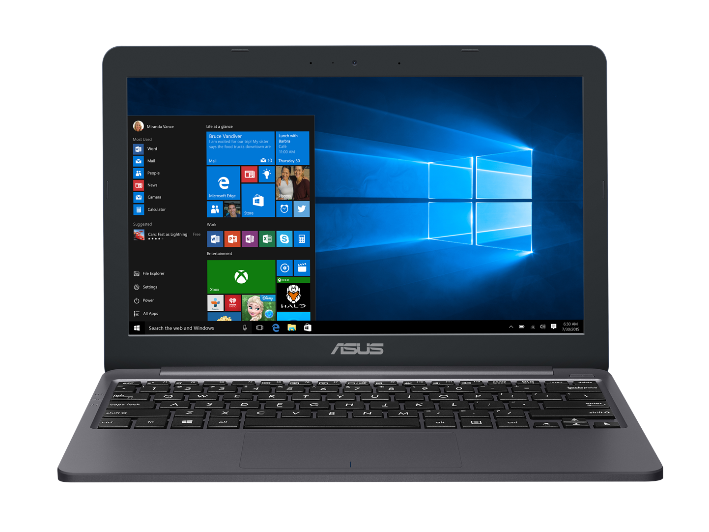 "ASUS E203NA-FD107TS Celeron N3350/4GB/32GB EMMC/Intel HD Graphics 500/11,6"" 1366x768 HD/Lesklý/BT/W10 Home/Grey"