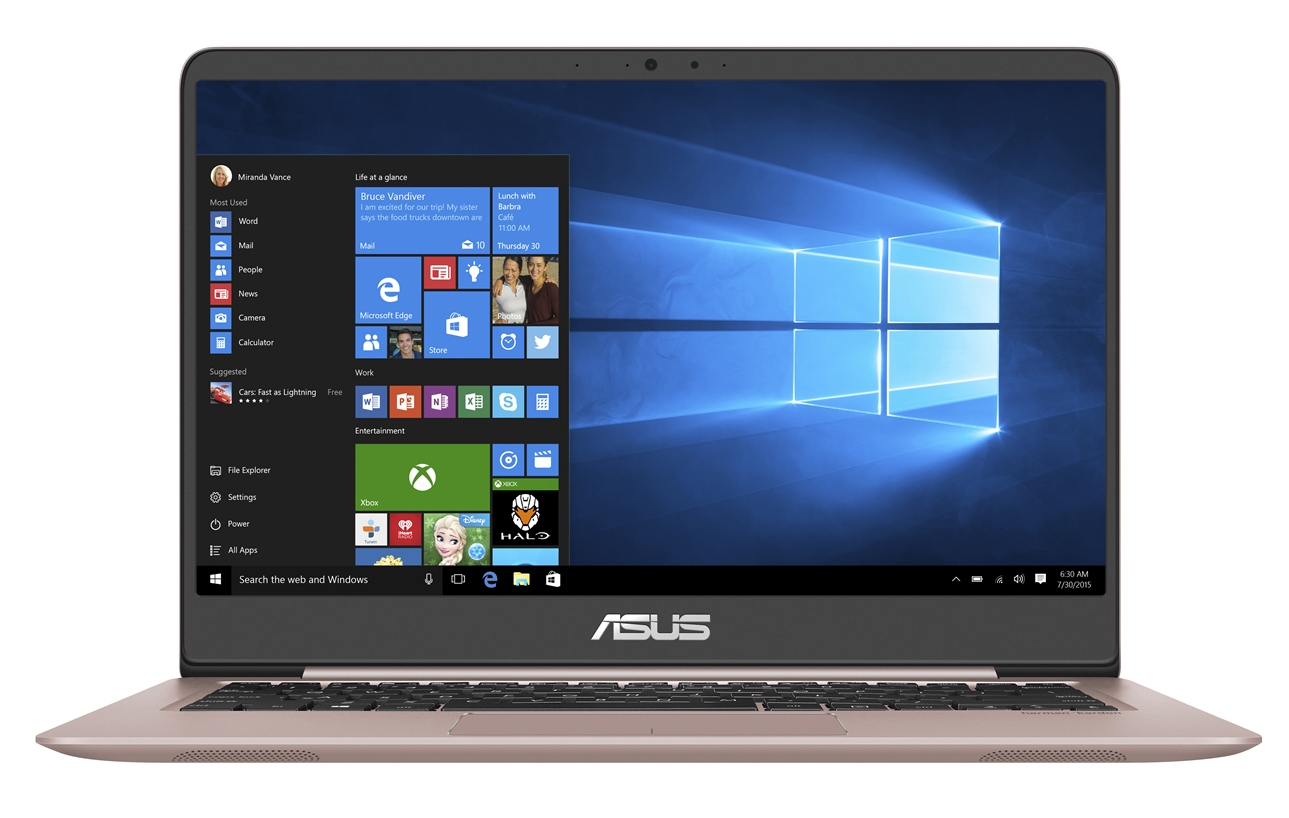 "ASUS UX410UA-GV393T Core i5-8250U/4GB/128GB SSD SATA3/Intel UHD Graphics 620/14"" IPS 1920x1080 FHD/Matný/BT/W10 Home/Gold"