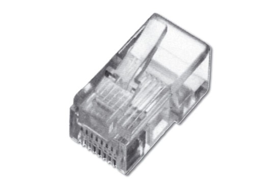 Digitus Modular Plug, for Flat Cable, 6P6C Unshielded 100ks
