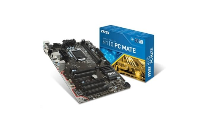 MSI MB Sc LGA1151 H110 PC MATE, Intel H110, 2xDDR4, VGA+DVI+HDMI, GbLAN, ATX