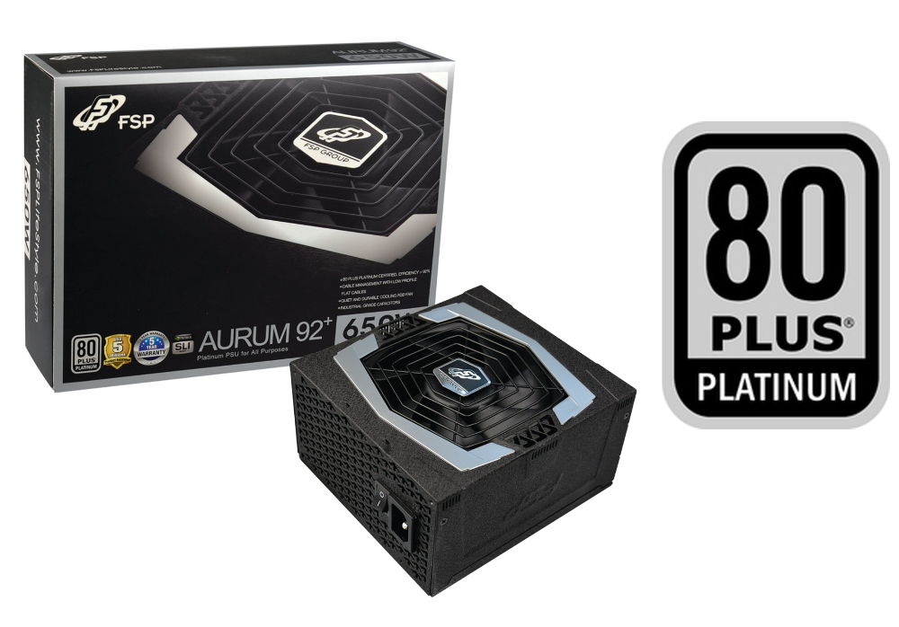 Fortron AURUM 92+ 650W 80PLUS PLATINUM, modular
