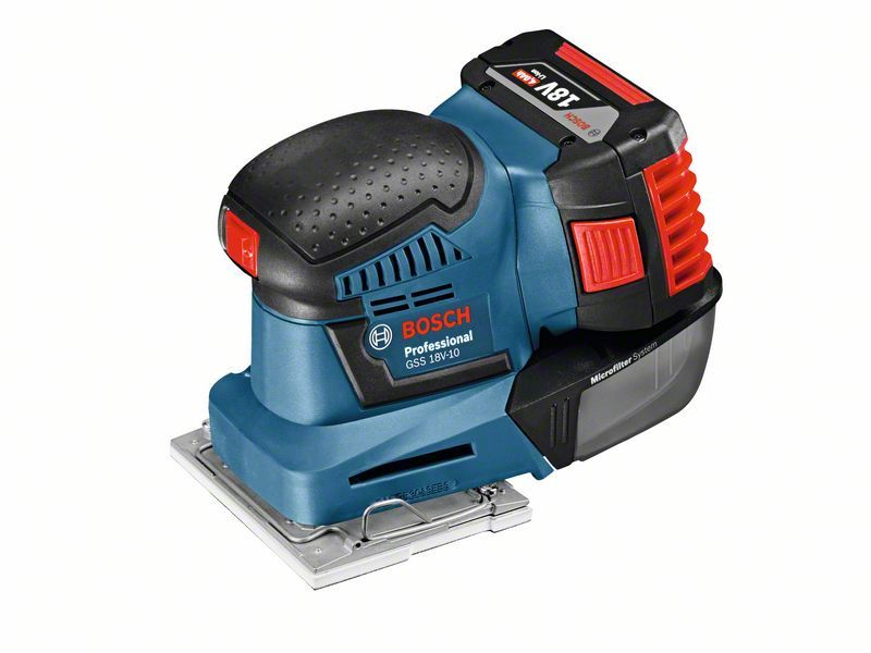 Aku vibrační bruska Bosch GSS 18V-10 Professional (bez baterie a nabjíečky), 06019D0200