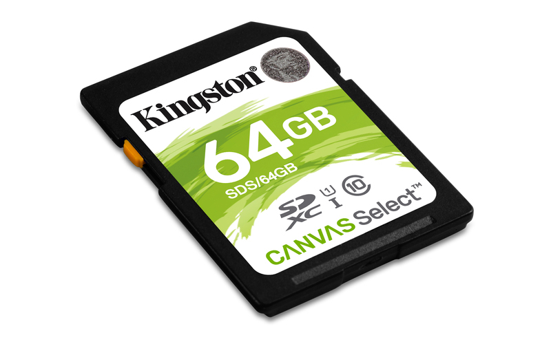 KINGSTON 64GB SDHC CANVAS Class10 UHS-I 80MB/s Read Flash Card