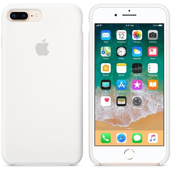 iPhone 8 Plus / 7 Plus Silicone Case - White