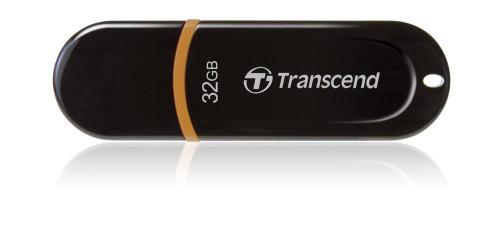 Transcend 32GB JetFlash 300, USB 2.0 flash disk, černo/oranžový
