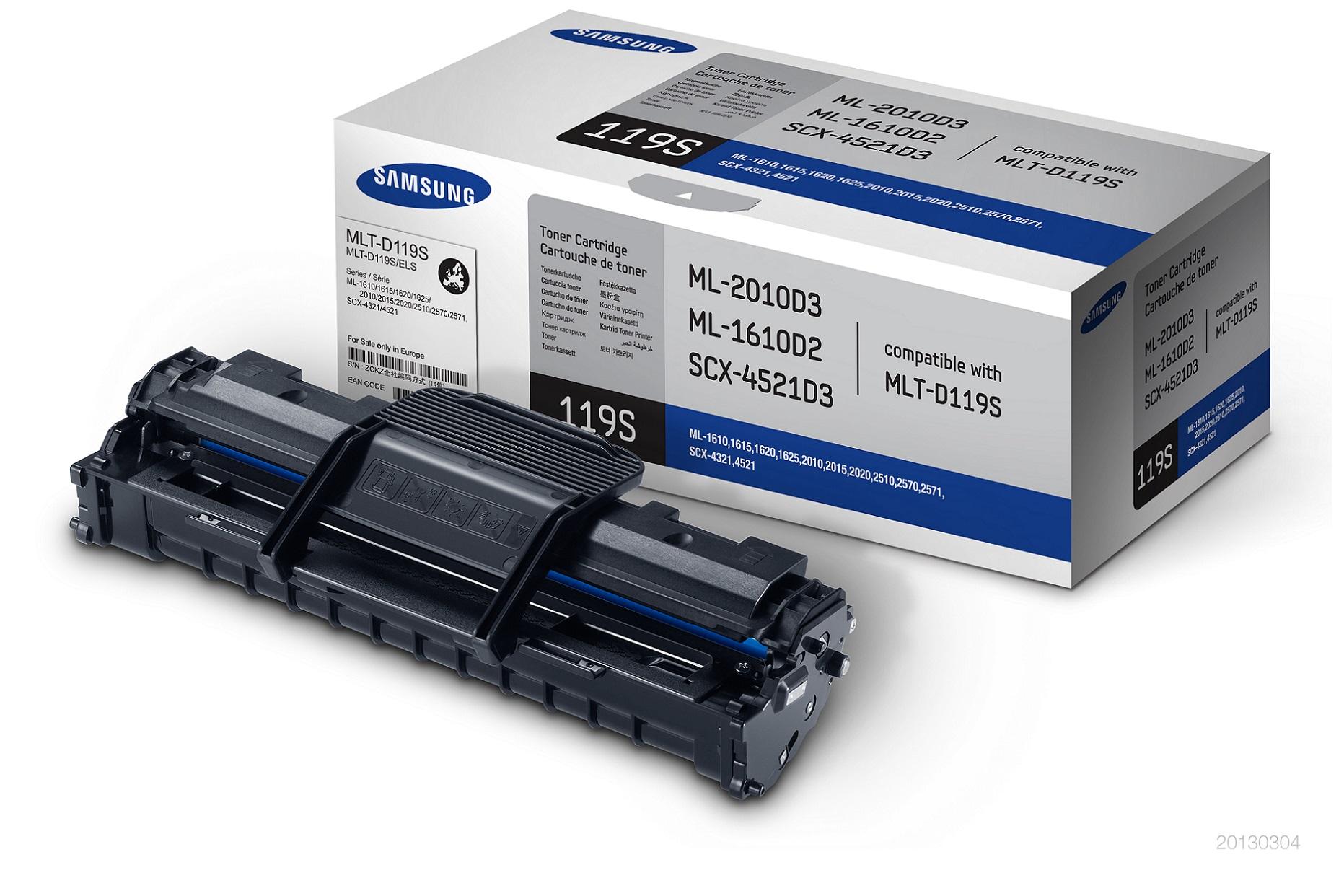 Samsung toner černý MLT - D119S pro SCX-4321/4521/ML-2010/2510/2570.. - 2000 str.