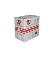 UTP kabel Elite, Cat5E, drát, PVC, 305m box, šedý