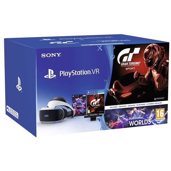 PS4 - PSVR headset + Kamera + GTS + VR Worlds