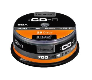 CD-R Intenso [ cake box 25 | 700MB | 52x ] Printable - Fullface