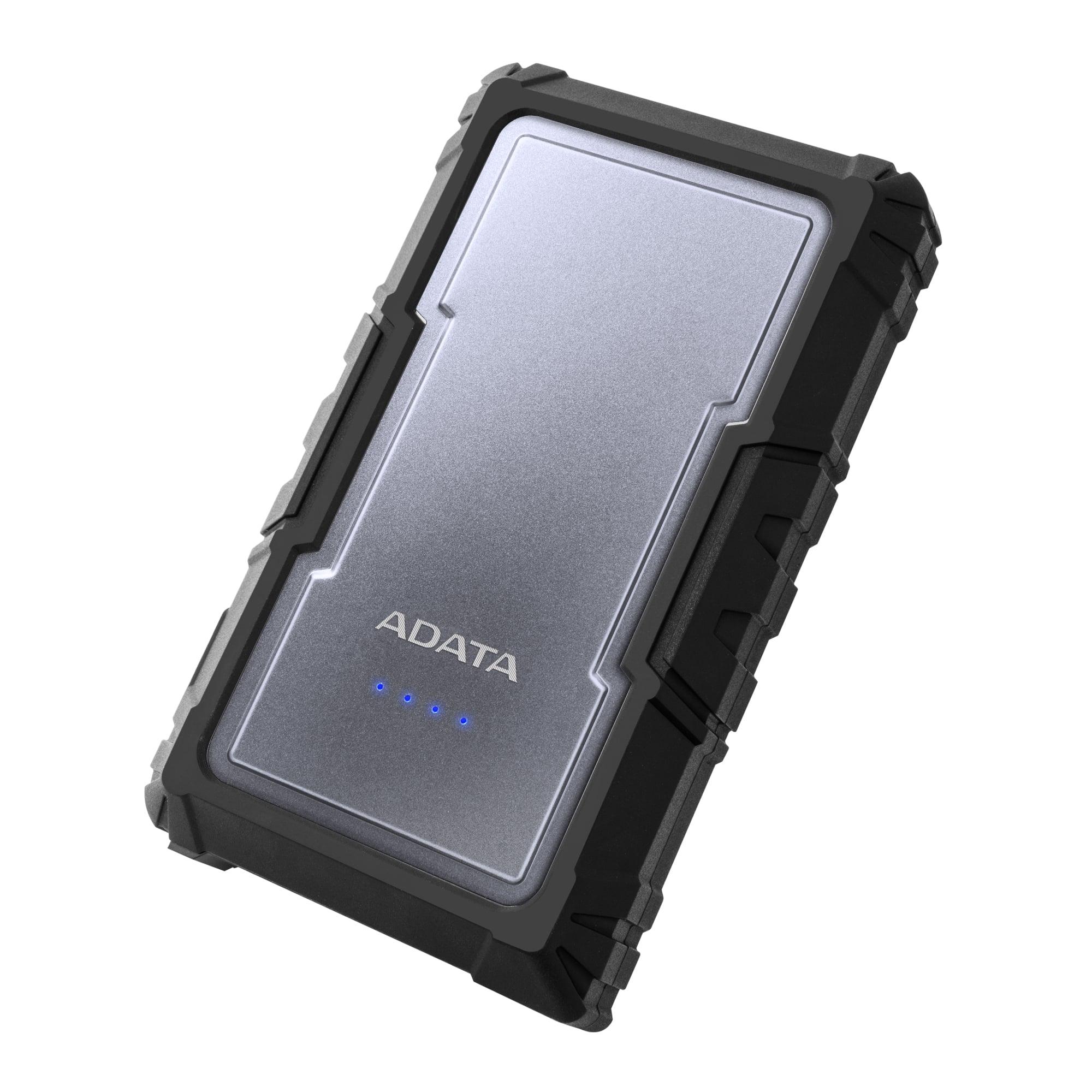 ADATA D6750 Power Bank 16750mAh, LED svítilna, stříbrná