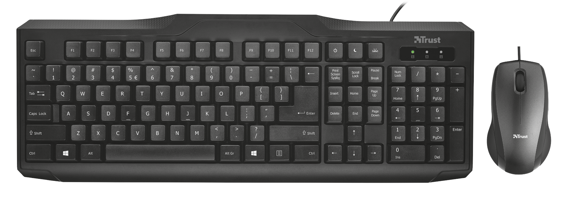 set TRUST Classicline Wired key/mouse