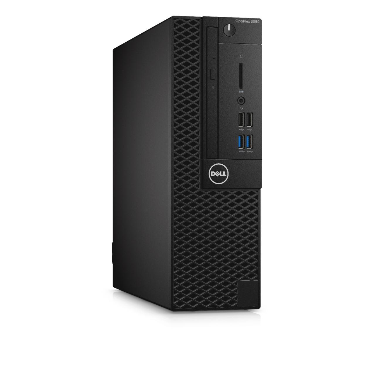 Dell PC Optiplex 3050 SF i3-7100/8G/256GB SSD/DP/HDMI/DVD RW/W10P/3RNBD/Černý