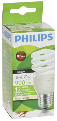 Philips Tornado Energy Saving E27 Spiral 15W (75W) warm-white
