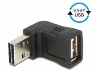 Delock adaptér EASY-USB 2.0-A samec > USB 2.0-A samice pravoúhlý nahoru/dolů