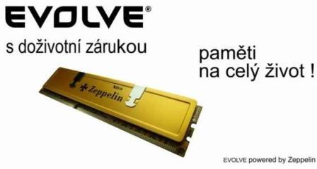 EVOLVEO DDR III 4GB 1333MHz by Zeppelin GOLD (s chladičem,box), CL9 (doživotní záruka)