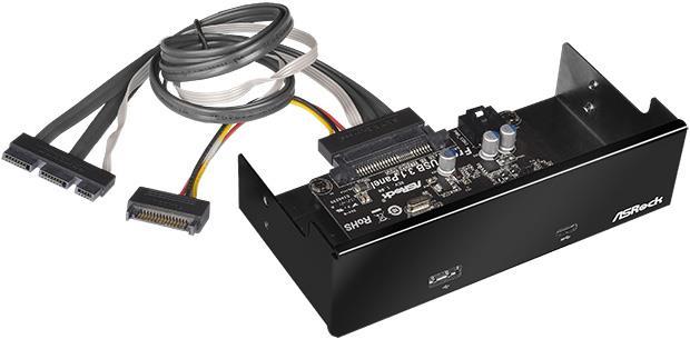 ASRock FRONT USB 3.1 PANEL, USB 3.1 Type-A, USB 3.1 Type-C