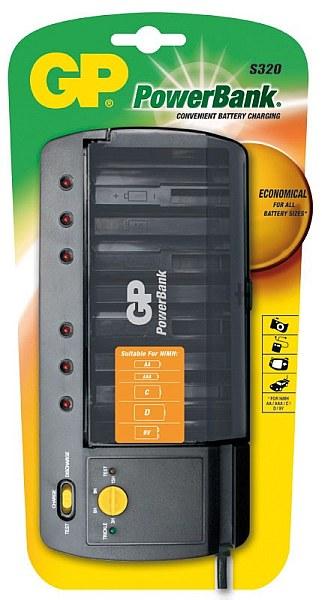 GP PowerBank S320 (AA/AAA/C/D/9V), 15hod, časovač