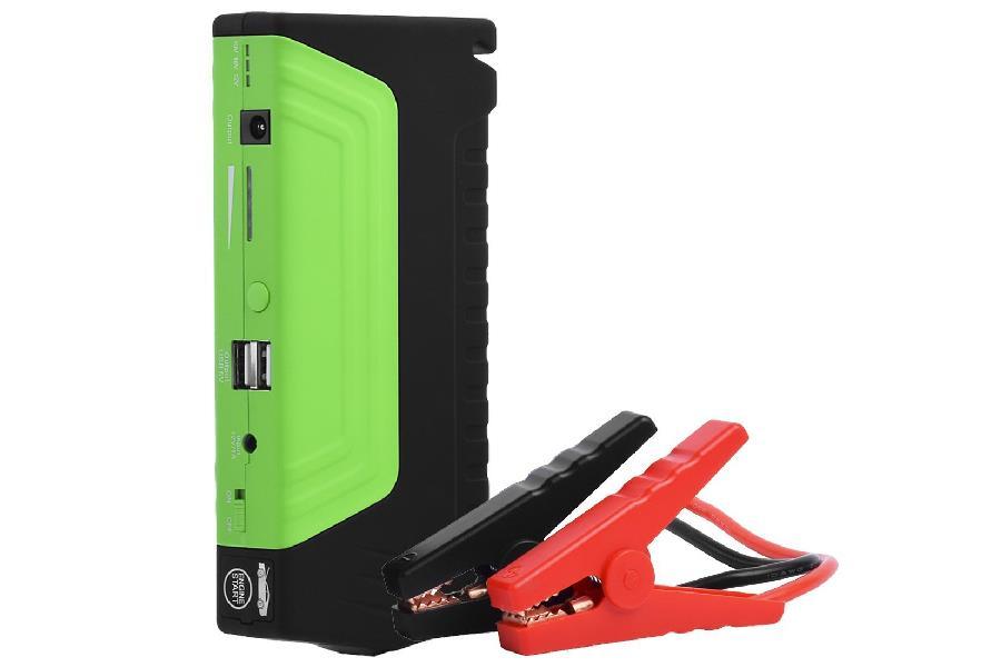 PowerNeed Sunen Jump Starter & Power bank 15000mAh, 2x USB, DC 19V, černo-zelený