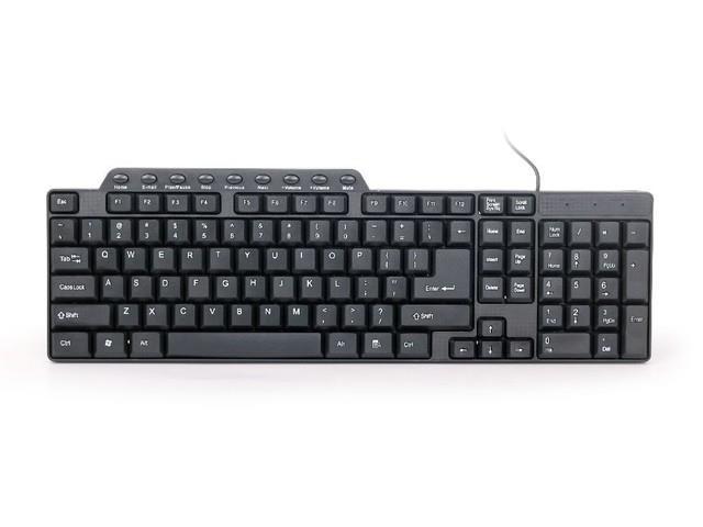 Gembird kompaktní multimediální klávesnice KB-UM-104, USB , US layout, černá