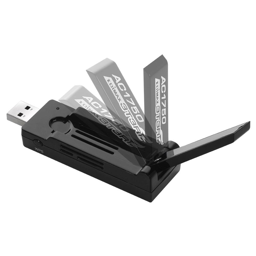 Edimax AC1200 Dual Band 802.11ac USB 3.0 adapter, 5GHz + 2,4GHz, HW WPS