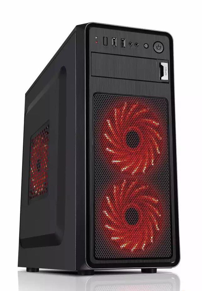 Gembird PC skříň Midi Tower Ares V2, černá