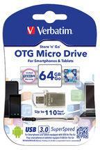 Verbatim USB DRIVE 3.0 OTG MICRO 64GB