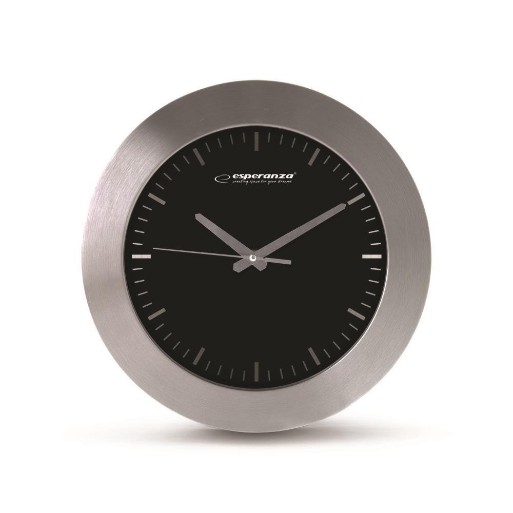 Esperanza EHC011K HOUSTON nástěnné hodiny, černé
