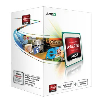 CPU AMD A4 X2 2-Core 5300 (Trinity) 3.4GHz (3.6GHz Turbo) 1MB cache 65W socket FM2, VGA HD7480D, BOX