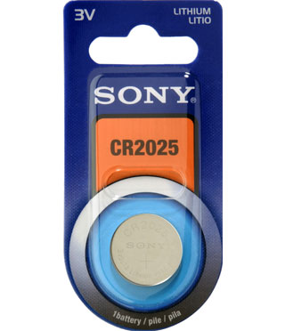 SONY CR2025B1A velikost CR2025, 1 ks, v blistru