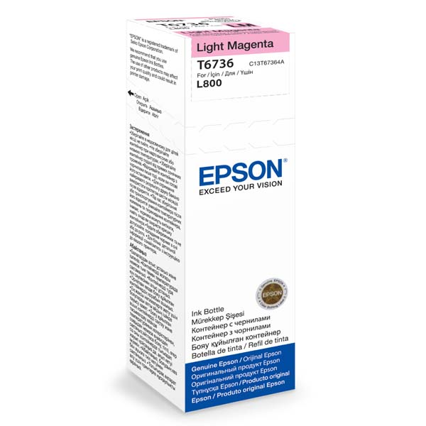 EPSON container T6736 light magenta ink (70ml - L800, L805, L810, L850, L1800)