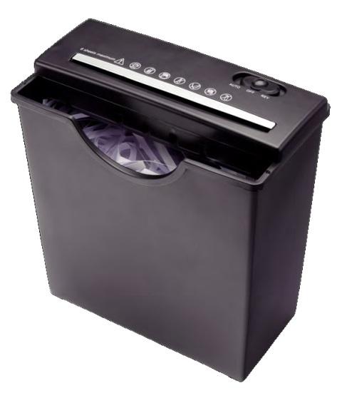 Ednet Papírový Skartovací stroj S5, černý 7L