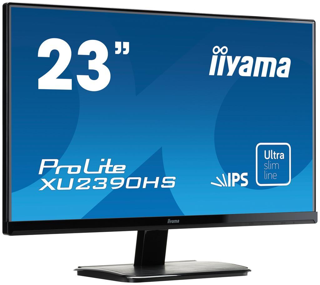 Iiyama LCD XU2390HS-B1 23'' LED, IPS, 5ms, VGA/DVI/HDMI, repro, 1920x1080, č