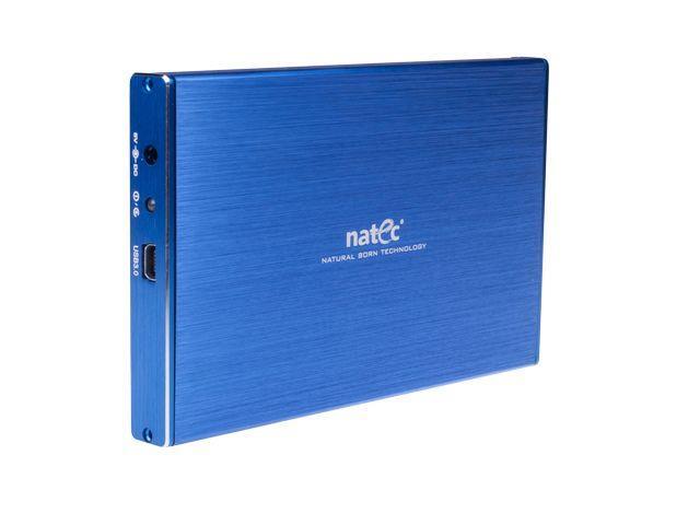Natec RHINO LTD Externí box pro 2.5'' SATA HDD, USB 3.0, slim, hliníkový, modrý