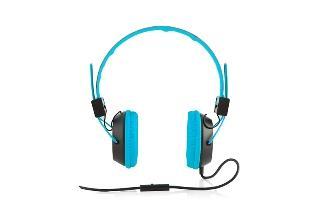 Modecom sluchátka MC-400 CIRCUIT BLUE mikrofon a ovládání hlasitosti na kabelu