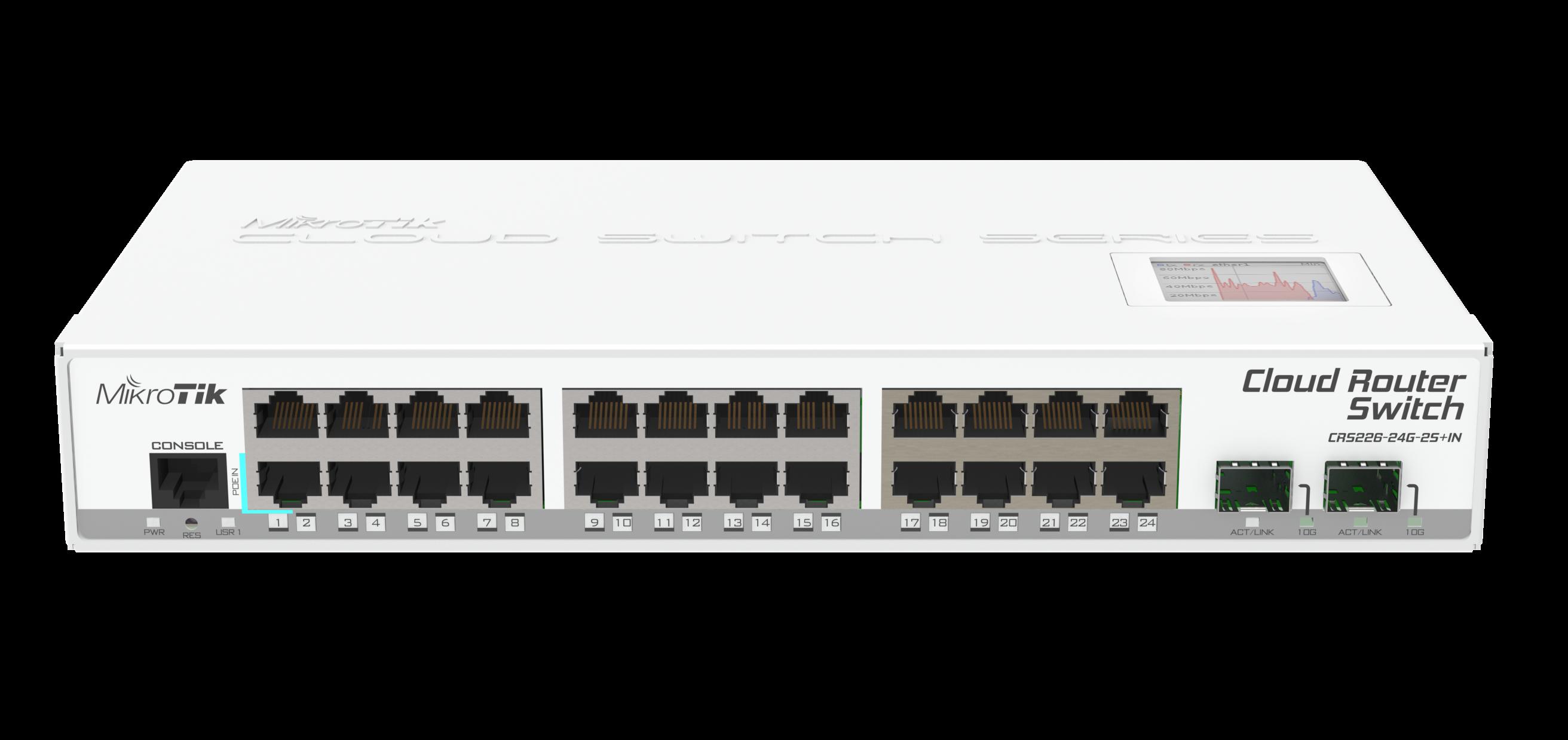 MikroTik CRS226-24G-2S+IN,24port L3 desktop switch