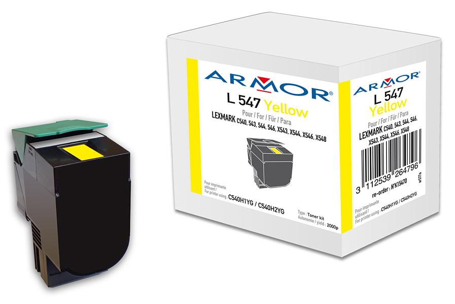 Armor toner pro Lexmark komp. C540H1YG, 2.000str,Y