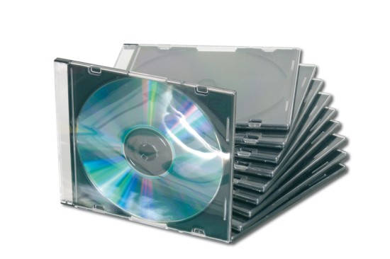 Ednet obal na CD, slim, černý + průhledný 10 ks
