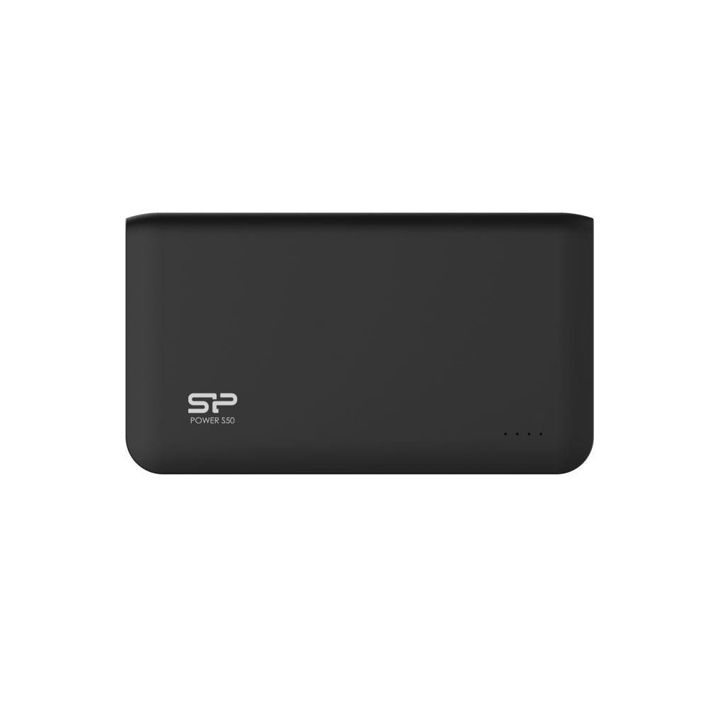 Silicon Power S50 Power Bank 5000mAH, 2x USB 2.0, LED, černá