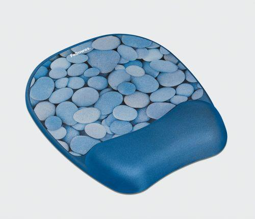 Fellowes gelová podložka pod myš a zápěstí Memory Foam, kamínky