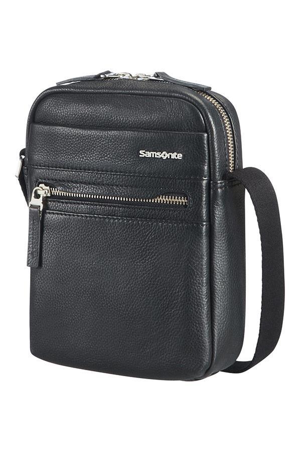 Crossover S SAMSONITE 71D09001 HIP-CLASS LTH ,GSM, pockets, black