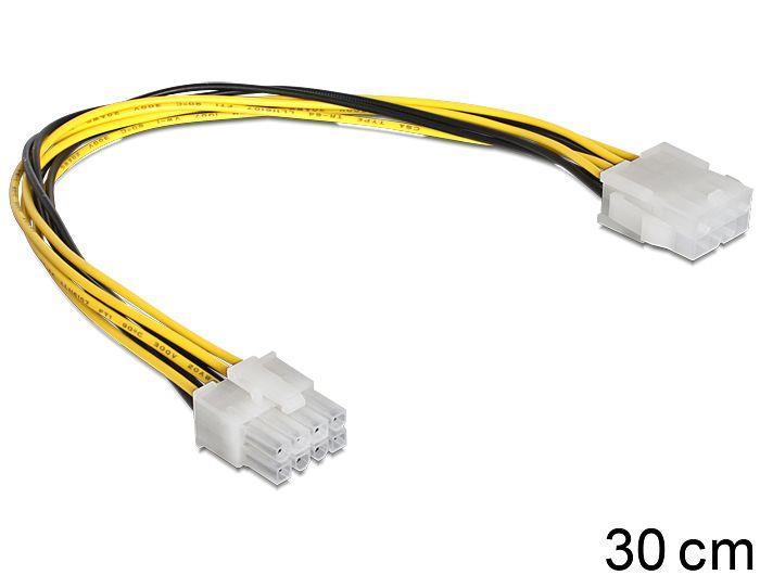 Delock prodlužovací napájecí kabel 8 pin EPS (M) > (F), 30cm
