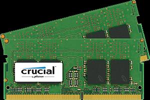 Crucial 2x8Gb, 2133MHz DDR4, CL15, DRx8, SODIMM, 260pin
