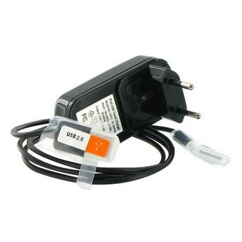 4World Nabíječka pro iPhone/iPod, pro síťové zásuvky 230V + USB, Černá