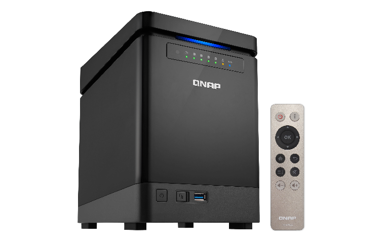 QNAP SMB TS-453Bmini-4G, 4-bay, Tower, Intel Celeron 1.5 GHz Quad Core, 4GB DDR3L, 2 x GbE
