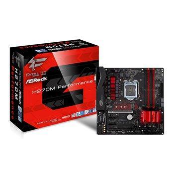 ASRock H270M Performance, INTEL H270 Series,LGA1151,4 DDR4, 2 x M.2 (for SSD)