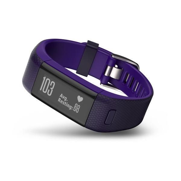 Garmin monitorovací náramek a hodinky vívoSmart Optic s GPS Purple, (vel. L)